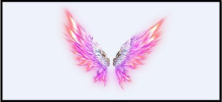 七彩翅膀简笔画